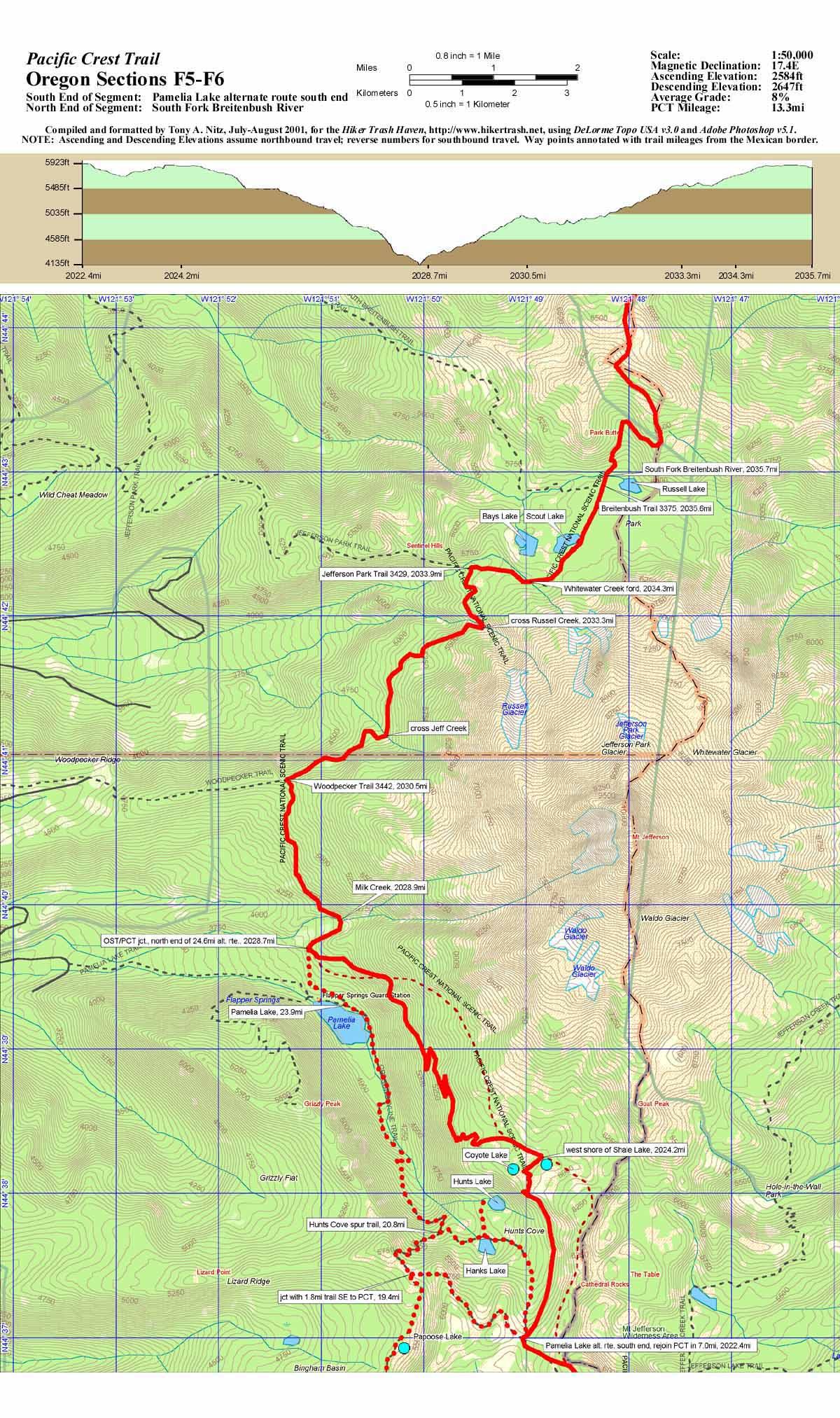PCT Topo Maps